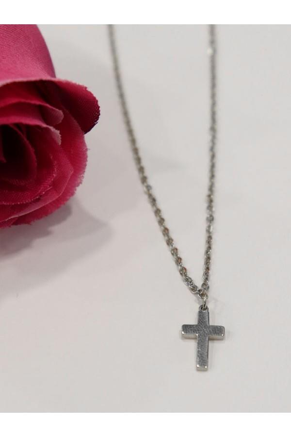 Colgante cruz acero