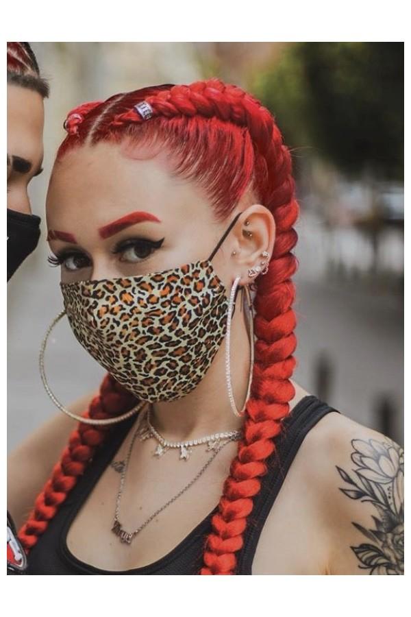 mascarilla tela leopardo
