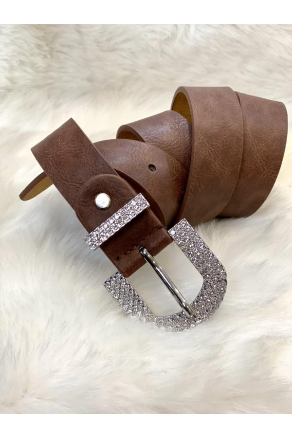 Cinturon hebilla piedras